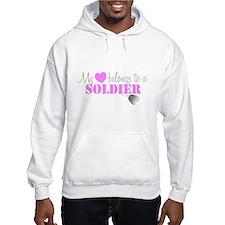 My 3 belongs to a Soldier Hoodie