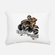 ATV Quad Crush Rectangular Canvas Pillow