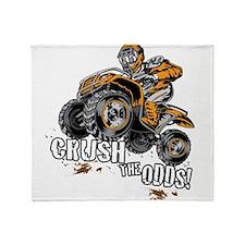 ATV Quad Crush Throw Blanket
