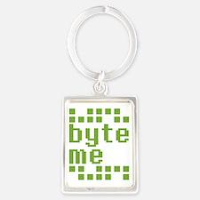 Byte Me Portrait Keychain