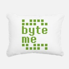 Byte Me Rectangular Canvas Pillow