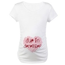 Due in December Heart Shirt