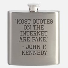 John F. Kennedy Internet Quote Flask