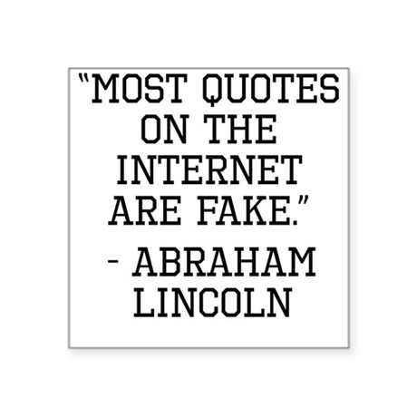 Abraham Lincoln Internet Quote Sticker by ...