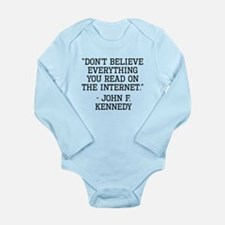 John F. Kennedy Internet Quote Body Suit
