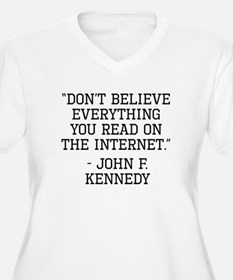 John F. Kennedy Internet Quote Plus Size T-Shirt