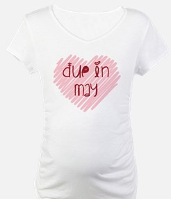 Due in May Heart Shirt