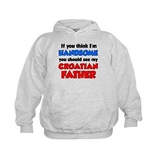 Think I'm Handsome Croatian Father Hoodie