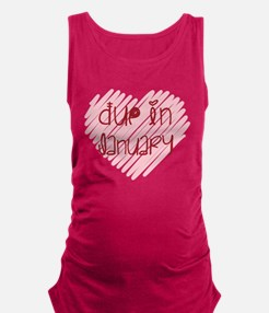 Due in January Heart Maternity Tank Top