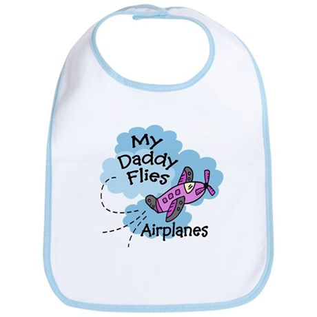 My Daddy Flies Airplanes Pink Baby/Toddler Bib