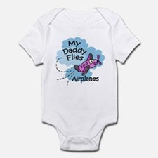 My Daddy Flies Airplanes Pink Baby/Toddler creeper