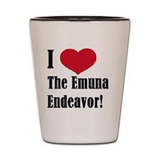 I Heart The Emuna Endeavor! Shot Glass