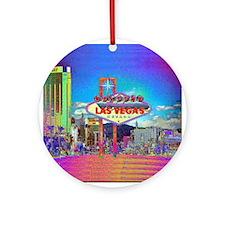 Las Vegas A Ornament (Round)