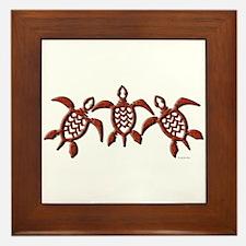 Trible Turtles Framed Tile