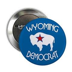 Wyoming Democrat Political Button