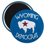 Wyoming Democrat Round Magnet