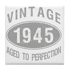 Vintage 1945 Birthday Tile Coaster
