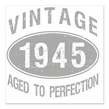 "Vintage 1945 Birthday Square Car Magnet 3"" x 3"""