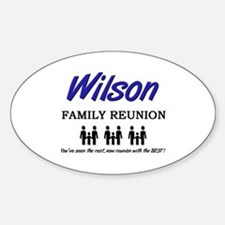 Wilson Family Reunion Oval Decal