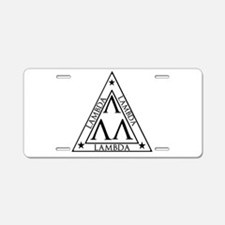 LAMBDA FRATERNITY Aluminum License Plate