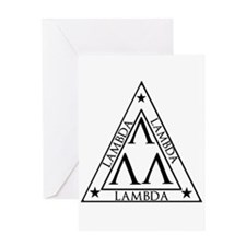 LAMBDA FRATERNITY Greeting Cards