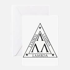 LAMBDA FRATERNITY Greeting Cards