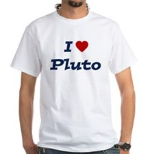 I HEART PLUTO White T-shirt