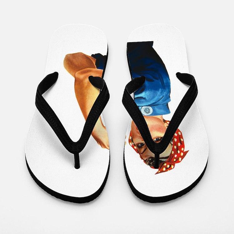 vintage rosie Flip Flops