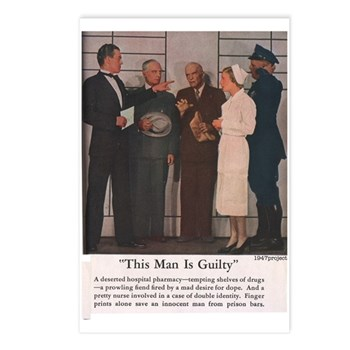 Guilty Man Postcards (Package of 8)