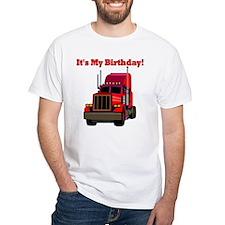 Semi Truck Birthday White T-shirt