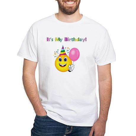 Happy Birthday Party White T-shirt