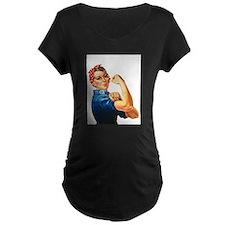 vintage rosie Maternity T-Shirt