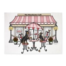 Manchester Terrier Cafe 5'x7'area Rug