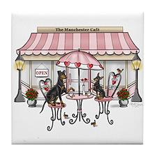 Manchester Terrier Cafe Tile Coaster