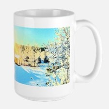 Sunrise over Tiny House Mugs