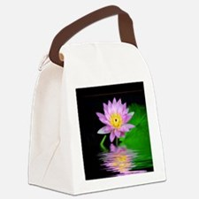 Water Lily Canvas Lunch Bag