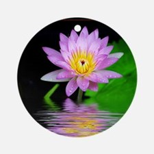 Water Lily Ornament (Round)