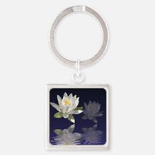 White Water Lily Keychains