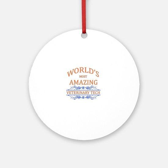 Veterinary Tech Round Ornament