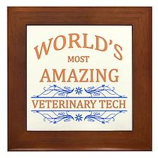 Veterinary Tech Framed Tile