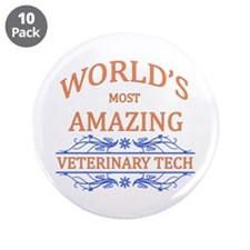 "Veterinary Tech 3.5"" Button (10 pack)"