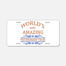 Veterinary Tech Aluminum License Plate