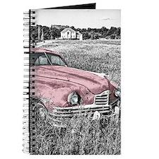 vintage pink car Journal