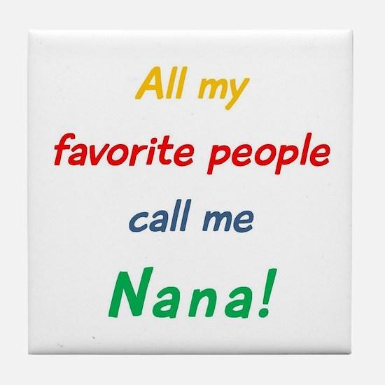 Cute Proud grandmother Tile Coaster