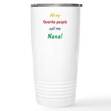 Unique Call me grandma Travel Mug
