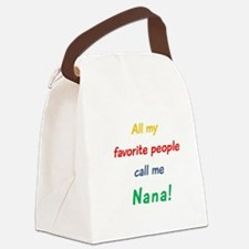 Unique Nana Canvas Lunch Bag