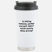 Texting while driving - Travel Mug