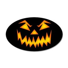 Scary Pumpkin Face RP Wall Decal