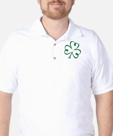 Shamrock clover Golf Shirt
