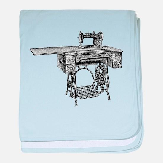 vintage sewing machine baby blanket